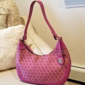 Dooney & Bourke Shoulder Hobo Handbag Pink
